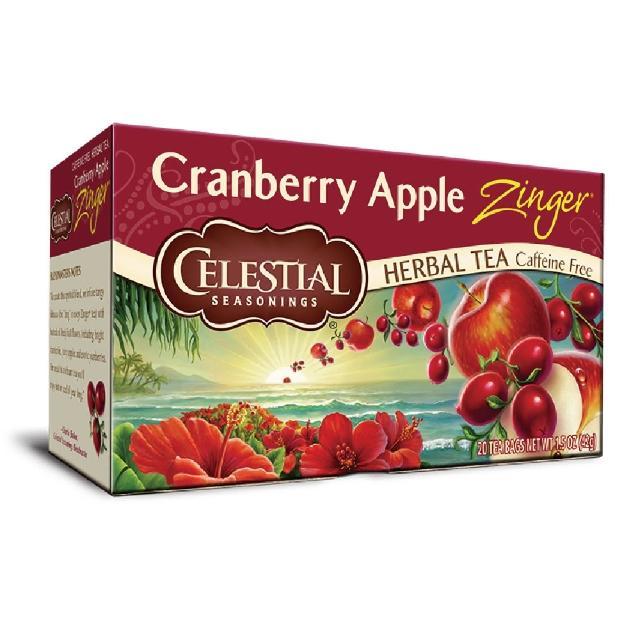 【Celestial 詩尚草本】美國進口 蔓越莓蘋果活力茶2盒組(20環保包 x 2)