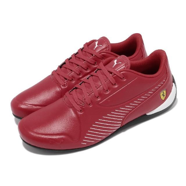 【PUMA】休閒鞋 Drift Cat 7S Ultra 男鞋 海外限定 皮革鞋面 法拉利 穿搭推薦 紅 白(30642404)