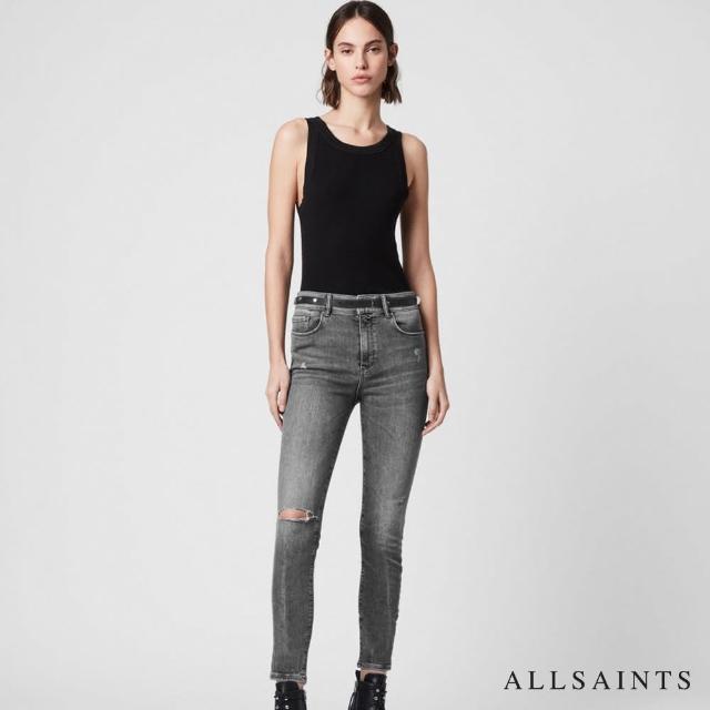 【ALLSAINTS】MILLER 仿舊超彈力中腰復古緊身牛仔褲(緊身版型)