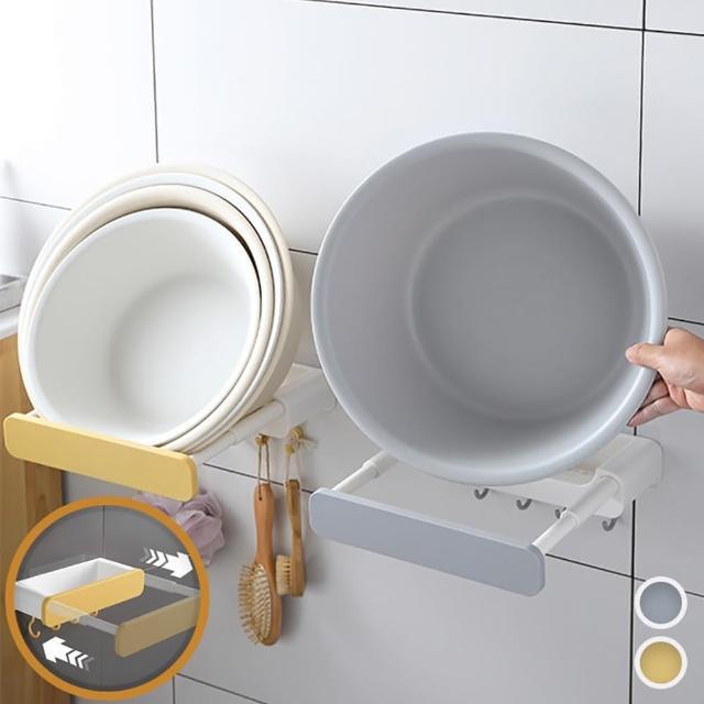 【Reddot 紅點生活】多功能伸縮臉盆鍋蓋瀝水架(輕鬆利用垂直空間)