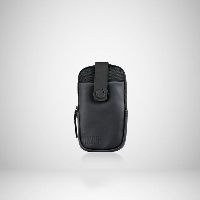 【NICHE 樂奇】PVC皮革防盜扣手機袋 快拆多功能跨掛包 #805(男士手機包 腰包 隨身小包)
