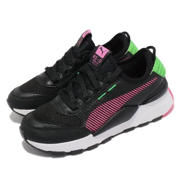 【PUMA】休閒鞋 RS-0 Rein 復古 襪套式 女鞋 海外限定 撞色 穿搭推薦 透氣 黑 粉 綠(37182803)
