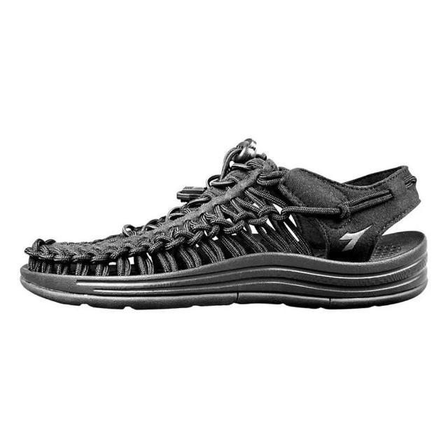 【DIADORA】編織涼鞋31662黑(加強護趾 可調整拌帶 水陸兩用 耐磨大底)