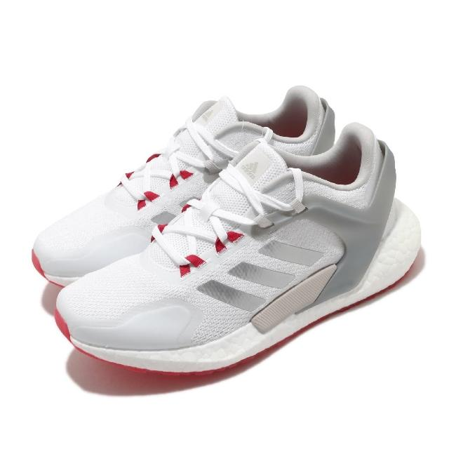 【adidas 愛迪達】慢跑鞋 Alphatorsion Boost 男鞋 愛迪達 舒適 緩震 回彈 膠底 球鞋穿搭 白 灰(GZ7544)