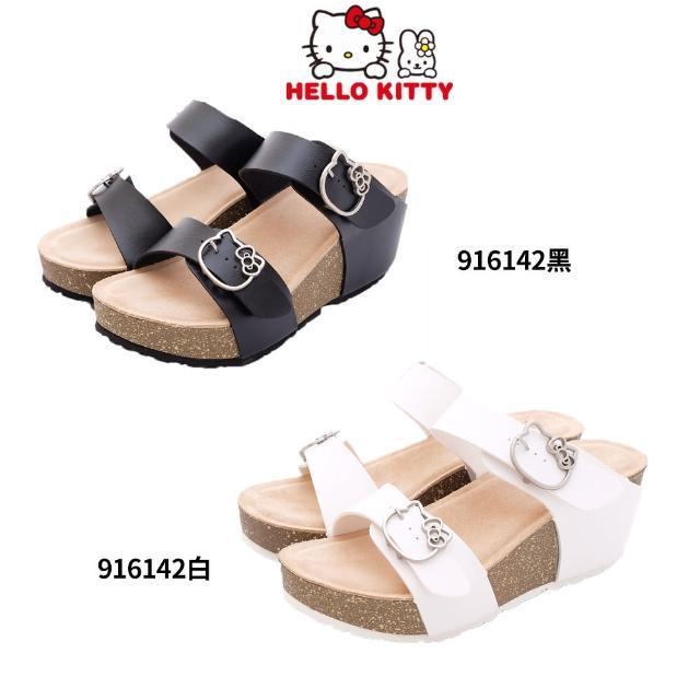 【HELLO KITTY】厚底涼鞋款(2色任選-916142-22.5-24.5cm)