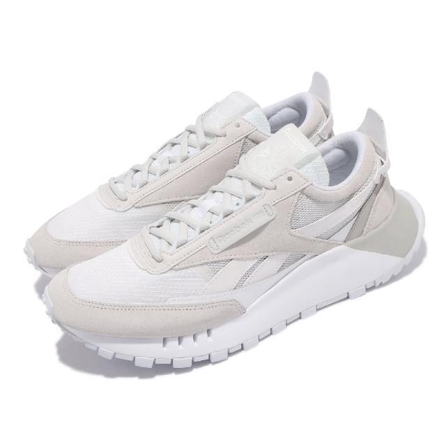 【REEBOK】休閒鞋 CL Legacy 運動 反光 男女鞋 海外限定 舒適 簡約 球鞋 情侶穿搭 白 灰(FY7379)