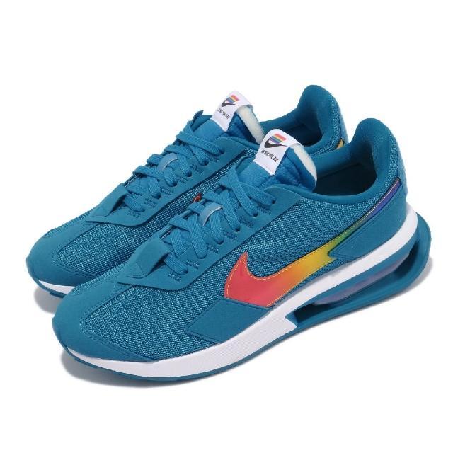 【NIKE 耐吉】休閒鞋 Air Max Pre Day 男女鞋 Betrue 彩虹 國旗魔鬼氈 情侶穿搭 藍 彩(DD3025-400)