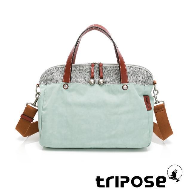 【tripose】漫遊系列岩紋玩色兩用手提背包(淺水藍)