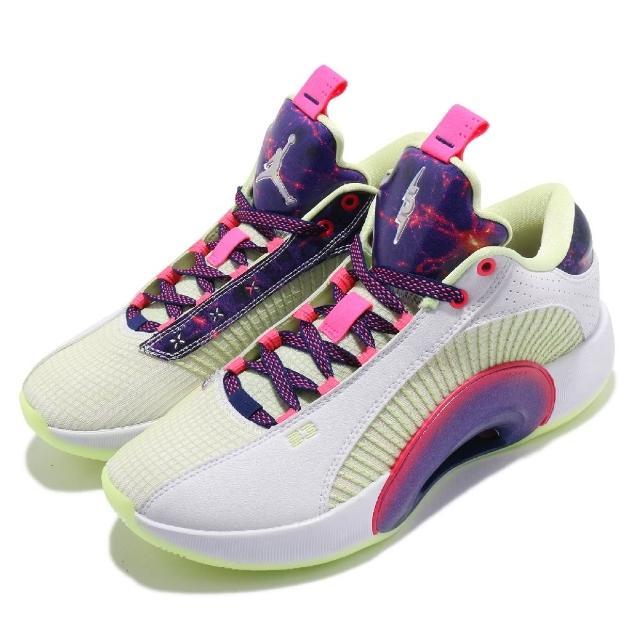 【NIKE 耐吉】籃球鞋 Air Jordan XXXV 運動 男鞋 明星款 喬丹 避震 包覆 支撐 球鞋 白 紫(DJ9805-190)