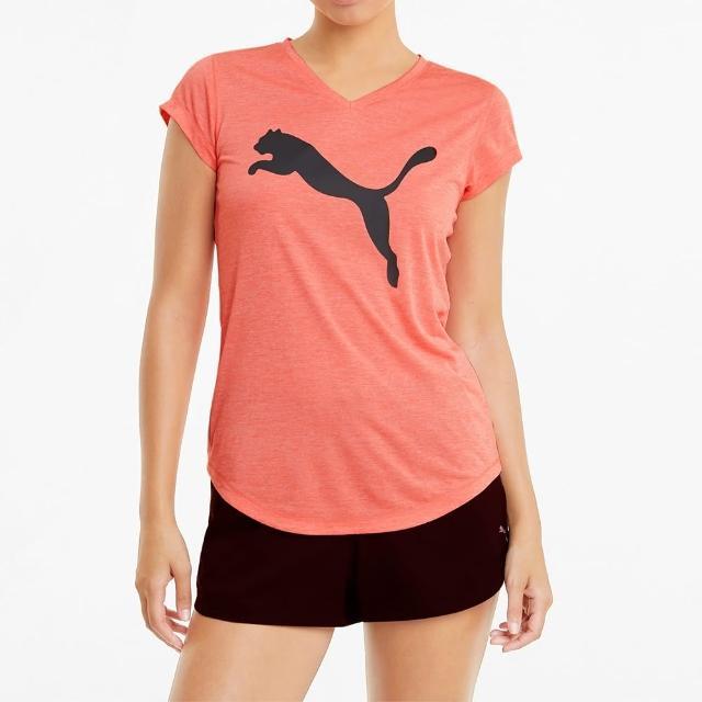 【PUMA】上衣 女款 短袖上衣 運動 慢跑 粉 51952624