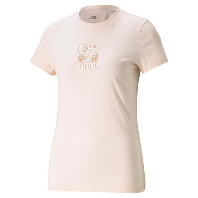 【PUMA】上衣 女款 短袖上衣 運動 慢跑 粉 53255227