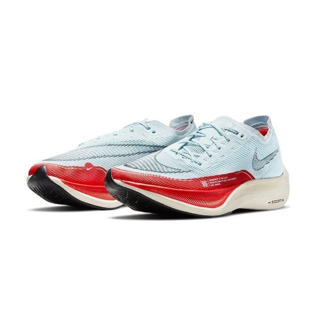 【NIKE 耐吉】ZoomX Vaporfly Next% 2 男 天空藍 紅 馬拉松 運動 慢跑鞋 CU4111-400(高階競速鞋款)