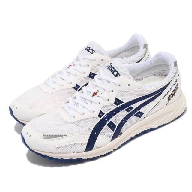 【asics 亞瑟士】慢跑鞋 Skysensor Japan 男女鞋 亞瑟士 路跑 輕量 緩震 日本製 白 藍(TJR071100)