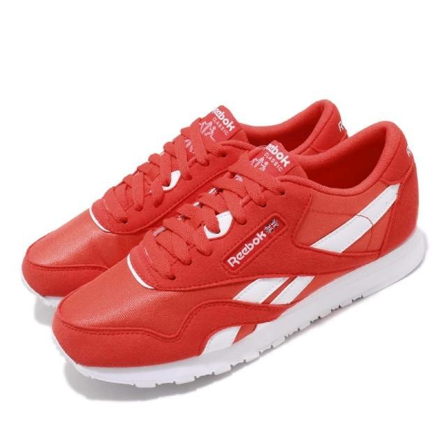 【REEBOK】休閒鞋 CL Nylon Color 男女鞋 銳步 復古 穿搭 麂皮 經典 英國 白 紅(CN7446)