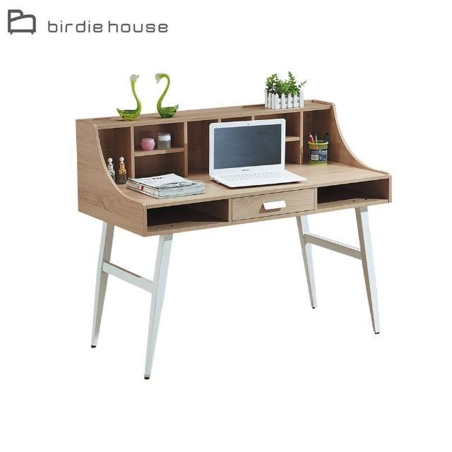 【柏蒂家居】邦尼4尺簡約置物格書桌/工作桌