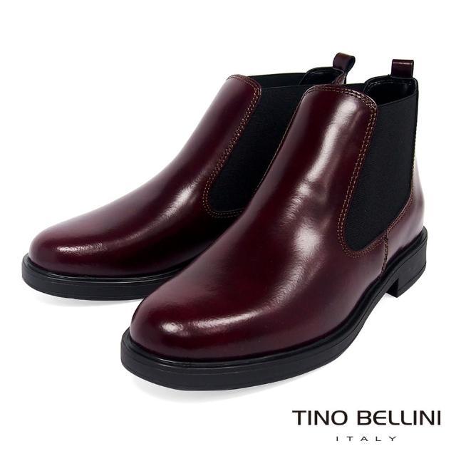 【TINO BELLINI 貝里尼】義大利進口英倫切爾西短靴VI8505(酒紅)