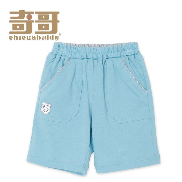 【奇哥】開心寶貝五分褲-藍(1-5歲)