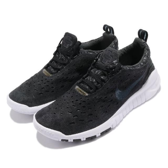 【NIKE 耐吉】慢跑鞋 Free Run Trail 運動 男女鞋 襪套 輕量 舒適 避震 赤足 情侶穿搭 黑 白(CW5814-001)