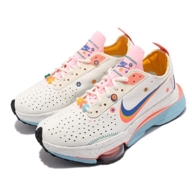 【NIKE 耐吉】休閒鞋 Air Zoom Type 運動 女鞋 氣墊 舒適 避震 簡約 球鞋 穿搭 卡其 藍(DJ5064-144)