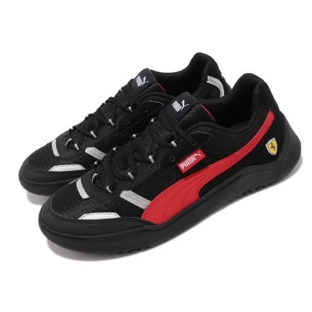 【PUMA】休閒鞋 Ferrari Race Future 男鞋 法拉利 賽車鞋 緩震 穿搭推薦 黑 紅(30653901)