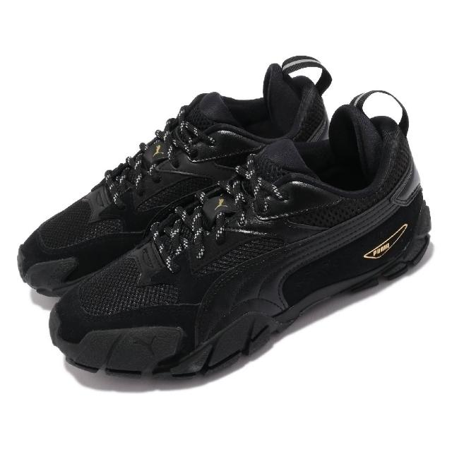 【PUMA】休閒鞋 Centaur Mono 女鞋 暗黑風格 緩震 透氣網布 穿搭 黑 金(37512701)