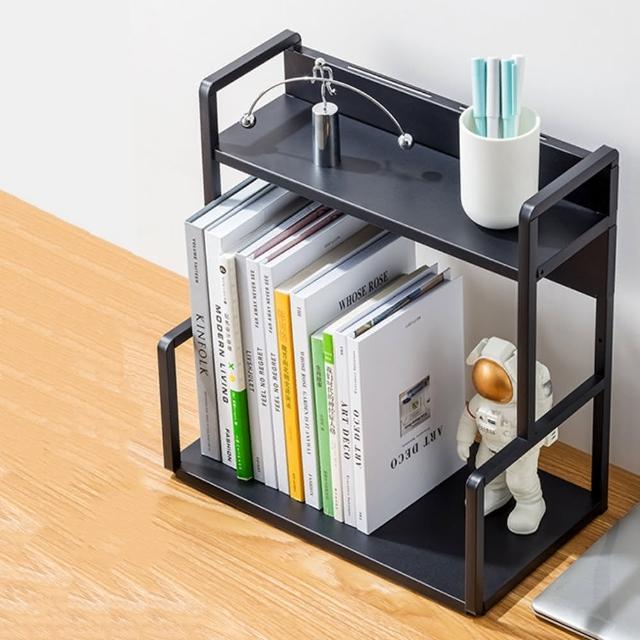 【HappyLife】H型桌面置物架 兩層40cm Y10172(桌上整理架 檯面整理架 花架 廚房收納架 書架)