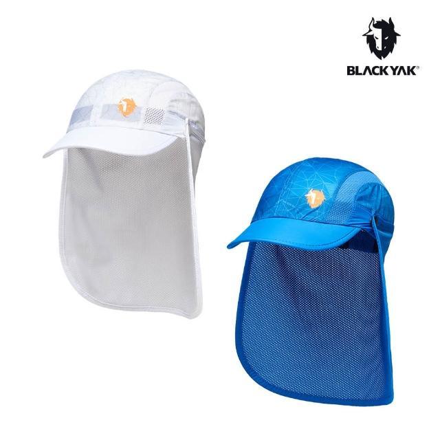 【BLACK YAK】童SAHARA防曬棒球帽[寶藍色/白色]BY181KAG02(韓國春夏 棒球帽 兒童帽)