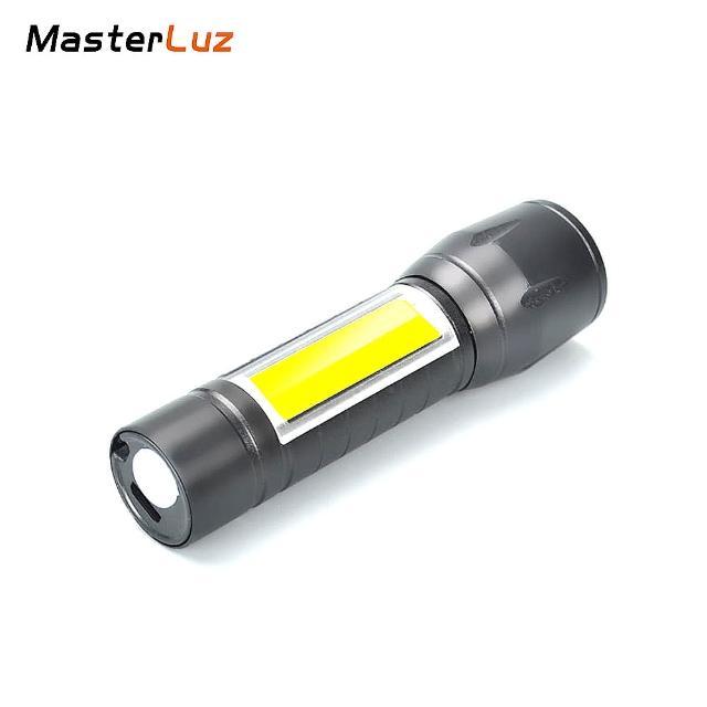 【MasterLuz】G31 USB充電 LED迷你型雙光源手電筒-1入