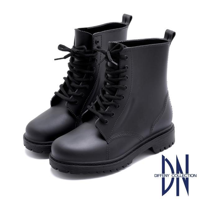 【DN】雨靴_馬丁靴造型大底加厚雨靴(黑)