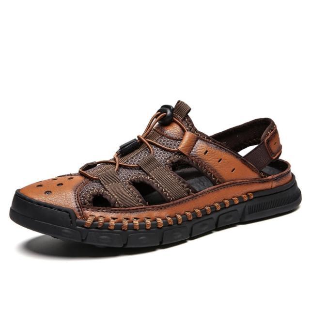 【Taroko】回歸自然男士戶外休閒沙灘魔鬼氈涼鞋(3色可選)
