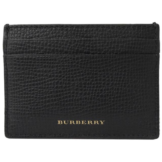 BURBERRY 巴寶莉【BURBERRY 巴寶莉】經典英系棉麻拼接信用卡證件夾名片夾(黑)