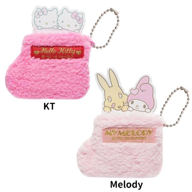 【TDL】HELLO KITTY凱蒂貓美樂蒂聖誕襪子造型MEMO便條紙 524459/524411