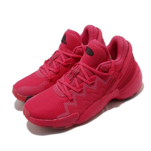 【adidas 愛迪達】籃球鞋 D.O.N. ISSUE 2 GCA 男鞋 愛迪達 Crayola 蠟筆 米邱 二代 紅色(FW9039)