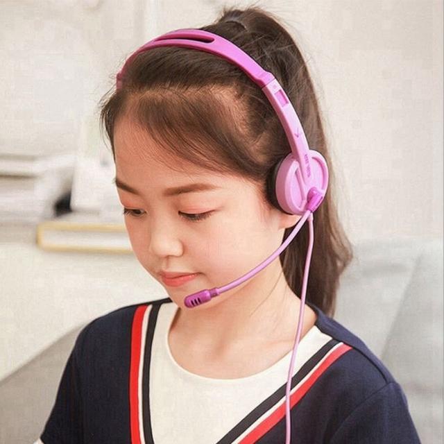 兒童頭戴式耳機麥克風(遠端監控/遠端教學/視訊教學)