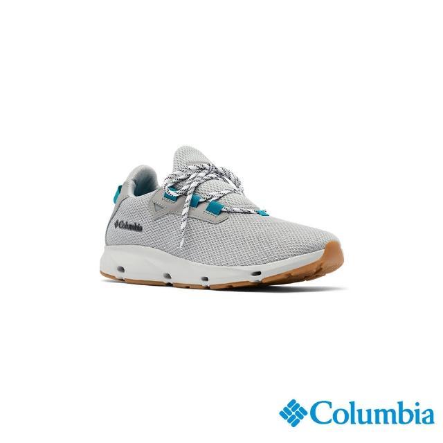 【Columbia 哥倫比亞】男款- 輕量透氣休閒鞋-淺灰(UBM01590LY / 健走.運動.防水)