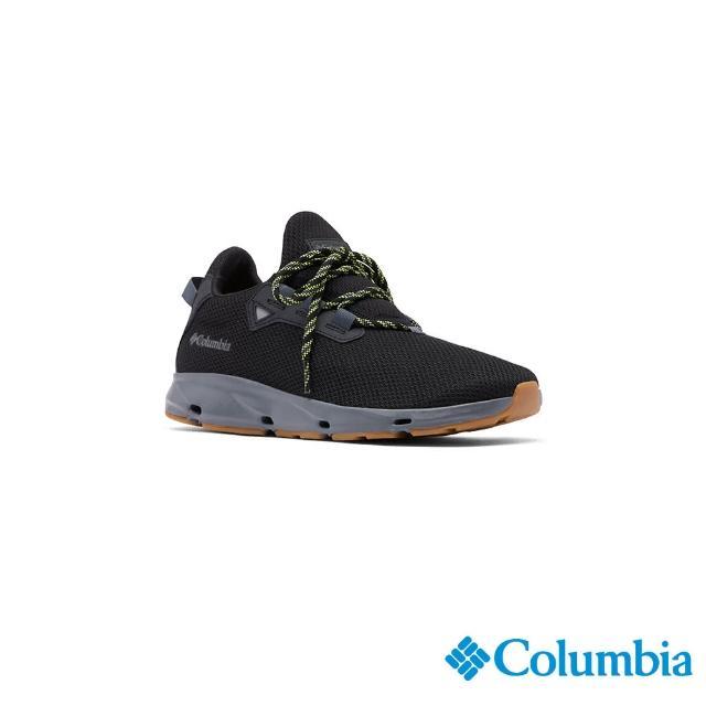 【Columbia 哥倫比亞】男款- 輕量透氣休閒鞋-黑色(UBM01590BK / 健走.運動.防水)