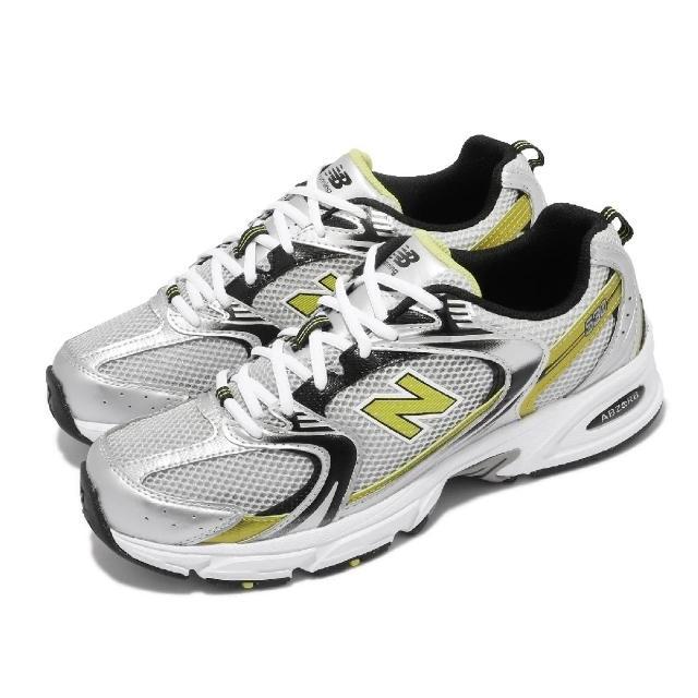 【NEW BALANCE】休閒鞋 530 復古慢跑鞋 男女鞋 紐巴倫 韓國 老爹鞋 情侶穿搭 銀 黃(MR530SCD)