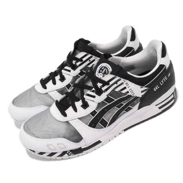 【asics 亞瑟士】休閒鞋 GEL-Lyte III OG 男鞋 亞瑟士 對比色 線條 穿搭 緩震 亞瑟膠 黑 白(1191A336001)