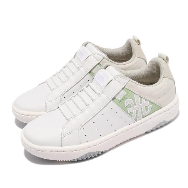 【ROYAL Elastics】休閒鞋 Icon 2.0 真皮鞋面 女鞋 無鞋帶設計 彈力帶 好穿脫 穿搭推薦 白 綠(96512040)