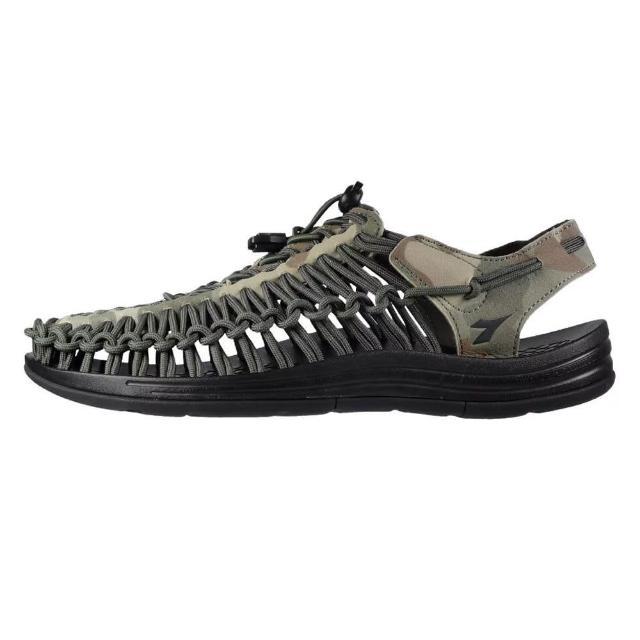 【DIADORA】編織涼鞋71205迷彩綠(加強護趾 可調整拌帶 水陸兩用 耐磨大底)