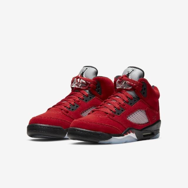 【NIKE 耐吉】籃球鞋 Air Jordan 5 Retro 女鞋 經典 喬丹五代 復刻 麂皮 公牛 紅 黑(440888-600)