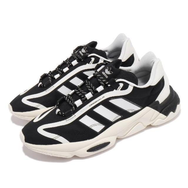 【adidas 愛迪達】休閒鞋 Ozweego Pure 運動 男女鞋 海外限定 愛迪達 舒適 簡約 情侶穿搭 黑 白(G57949)