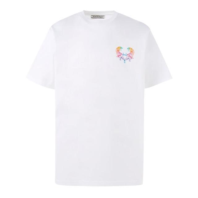 【Onitsuka Tiger】鬼塚虎 官方旗艦店 中性短袖T恤 白色(2183A740-101)