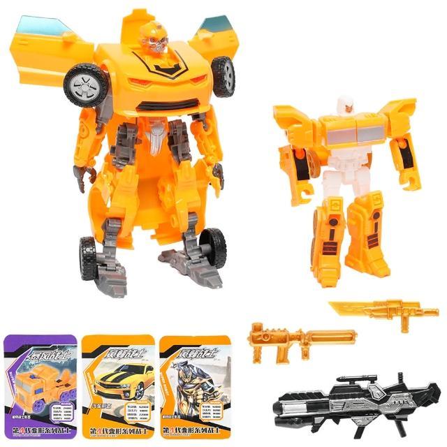 【TDL】變形機器人模型玩具機器人變車子玩具2入組 990146