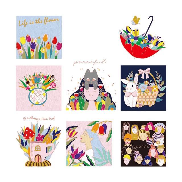 【印花美術社】香氛舒壓療癒手繪布好塗顏料組-生活似花