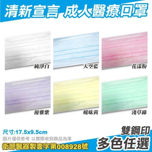 【清新宣言】醫療口罩 藍色 50片/盒(台灣製造 醫用口罩 CNS14774)