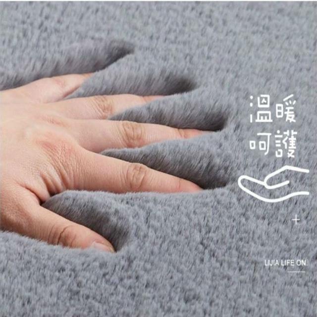 【JEN】仿兔毛地毯地墊50*80cm紫灰色