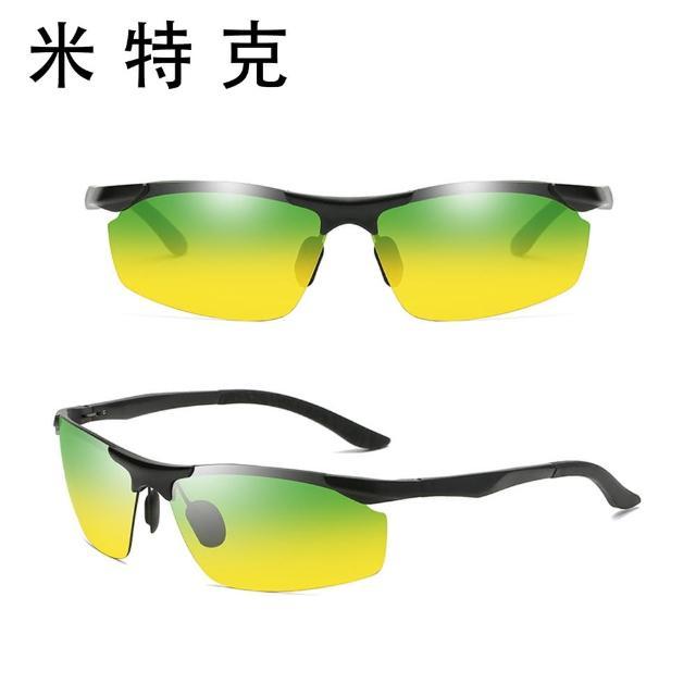 【MR.TECH 米特克】寶麗萊UV400偏光鋁鎂合金日夜太陽眼鏡(男仕電影明星運動流線偏光墨鏡-P8179)