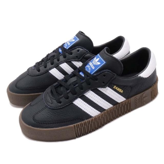 【adidas 愛迪達】休閒鞋 Sambarose 低筒 運動 女鞋 愛迪達 經典 穿搭 球鞋 鬆糕鞋 舒適 黑 白(B28156)