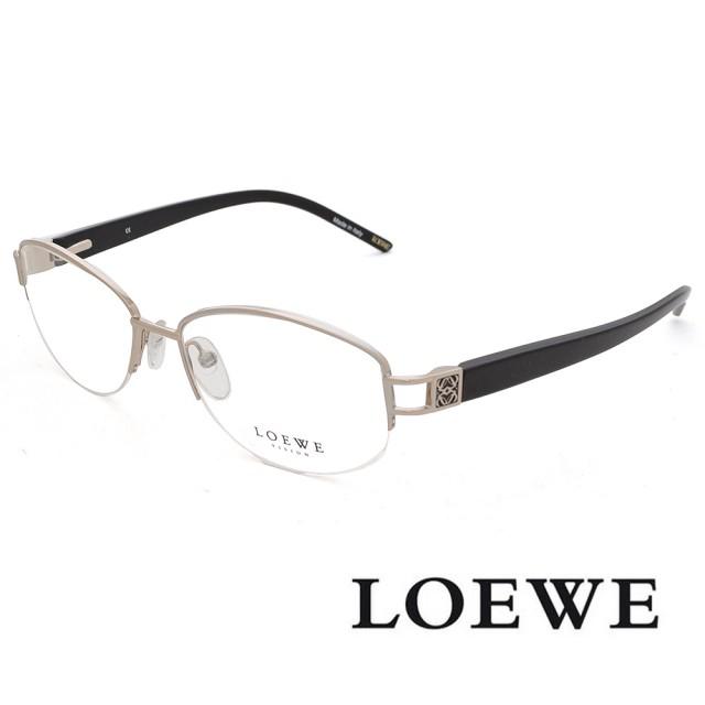 【LOEWE 羅威】西班牙精湛工藝微圓框 光學眼鏡(銀 VLW262-579)